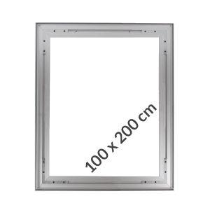 Cadres Suspendu Aluminium Tissu Tendu 100x200cm Profilés 26mm