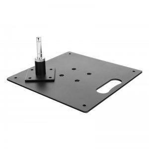 Platine carrée métalique 6kg 35x35cm